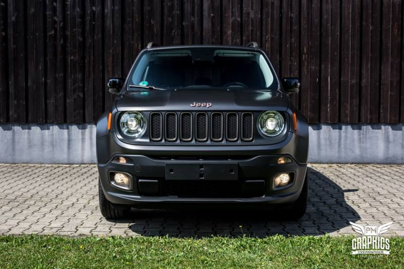 Jeep Renegade Satin Pearl Nero Folierung SchwabenFolia Tuning 4 Jeep Renegade in Satin Pearl Nero by SchwabenFolia CarWrapping