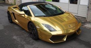 Lamborghini Gallardo Chromgold Wrap Tuning Folierung Check Matt Dortmund 1 1 e1471060496372 310x165 Mercedes S65 AMG Langversion mit Gold Folierung
