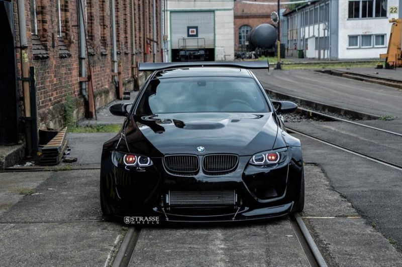 Liberty Walk BMW E92 M3 Kompressor Strasse Wheels SM7 Kompressor Tuning (3)