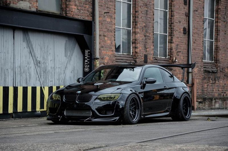 Liberty Walk BMW E92 M3 Kompressor Strasse Wheels SM7 Kompressor Tuning (6)
