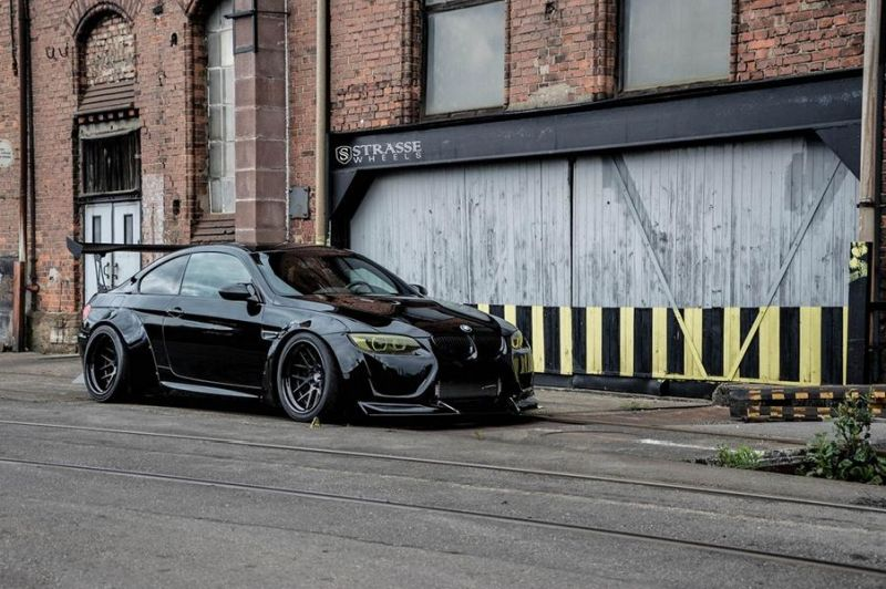 Liberty Walk BMW E92 M3 Kompressor Strasse Wheels SM7 Kompressor Tuning (7)