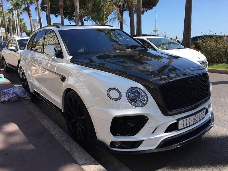 Mansory Carbon Widebody Kit 2016 Tuning Bentley Bentayga 3 Mansory Widebody Kit für den neuen Bentley Bentayga