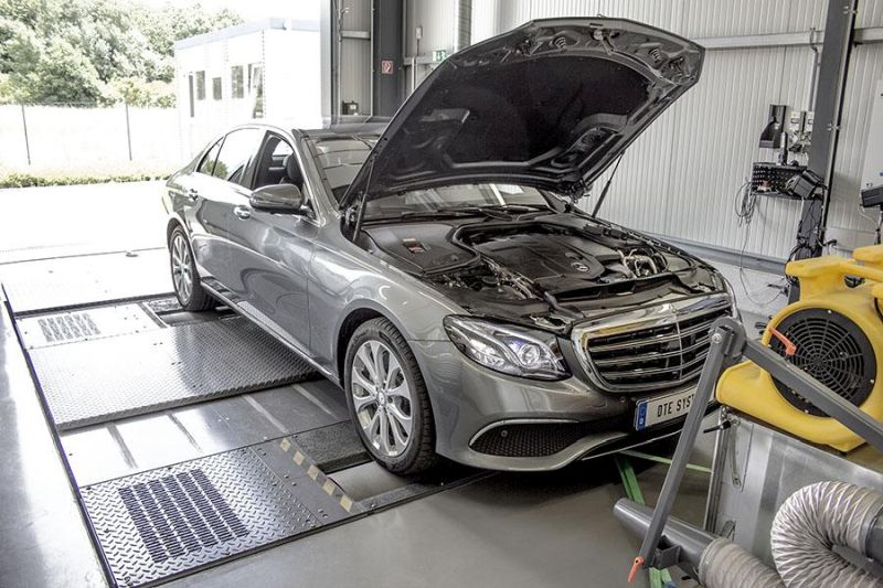 Mercedes Benz E 220d W213 Chiptuning Box PowerControl SENT DTE 2 Mercedes Benz E 220d (W213) mit 218PS & 449NM by DTE