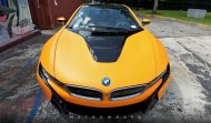 Metro Wrapz BMW i8 Matt Orange Folierung Wrap Tuning 2 190x111 Fotostory: Metro Wrapz BMW i8 mit Matt Orange Folierung