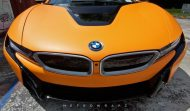Metro Wrapz BMW i8 Matt Orange Folierung Wrap Tuning 4 190x111 Fotostory: Metro Wrapz BMW i8 mit Matt Orange Folierung