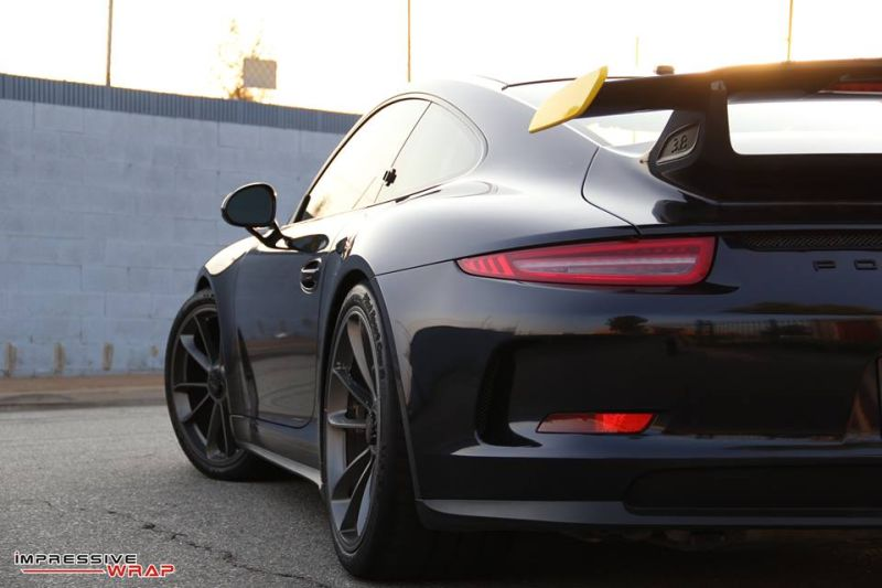 Midnight Blue Folierung Wrap Tuning Porsche 991 GT3 6 Midnight Blue   Impressive Wrap foliert den Porsche 991 GT3