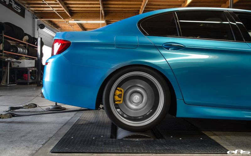 Pearlescent Bahama Blue BMW M5 F10 Tuning 2016 EAS (6)