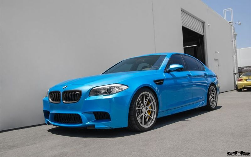 Pearlescent Bahama Blue BMW M5 F10 Tuning 2016 EAS (8)