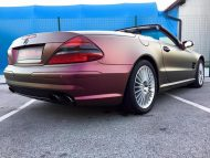 Platinum Purple X matt Folierung Mercedes SL R230 by BB Folien Tuning 12 190x143 Platinum Purple X Folierung am Mercedes SL by BB Folien