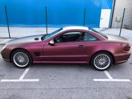 Platinum Purple X matt Folierung Mercedes SL R230 by BB Folien Tuning 13 190x143 Platinum Purple X Folierung am Mercedes SL by BB Folien