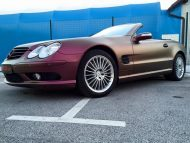 Platinum Purple X matt Folierung Mercedes SL R230 by BB Folien Tuning 16 190x143 Platinum Purple X Folierung am Mercedes SL by BB Folien
