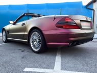 Platinum Purple X matt Folierung Mercedes SL R230 by BB Folien Tuning 2 190x143 Platinum Purple X Folierung am Mercedes SL by BB Folien