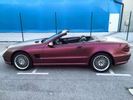 Platinum Purple X matt Folierung Mercedes SL R230 by BB Folien Tuning 4 190x143 Platinum Purple X Folierung am Mercedes SL by BB Folien