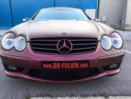 Platinum Purple X matt Folierung Mercedes SL R230 by BB Folien Tuning 5 190x143 Platinum Purple X Folierung am Mercedes SL by BB Folien