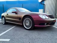 Platinum Purple X matt Folierung Mercedes SL R230 by BB Folien Tuning 9 190x143 Platinum Purple X Folierung am Mercedes SL by BB Folien