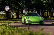 Porsche 911 GT3 RS HRE P104 Alufelgen Satin Black Tuning Giftgrün 2 190x126 Porsche 911 GT3 RS auf HRE P104 Alufelgen in Satin Black