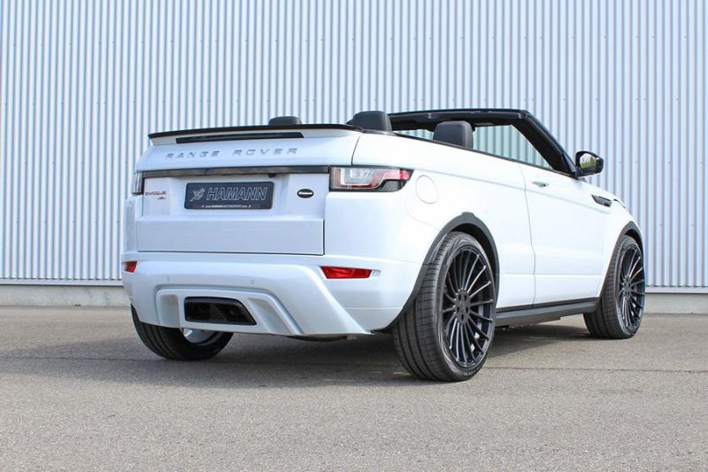 range rover evoque cabrio mit hamann bodkyit alufelgen. Black Bedroom Furniture Sets. Home Design Ideas