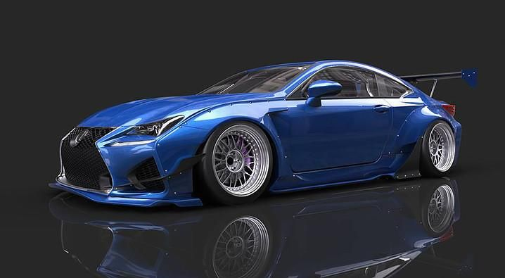 Rocket Bunny Lexus RC F with PUR Wheels - Lexus RC350 & RCF