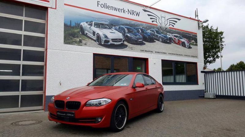 Satin Smoldering Red Folierung BMW 5er F10 Tuning Folienwerk NRW 6 Satin Smoldering Red folierter BMW 5er F10 by Folienwerk NRW