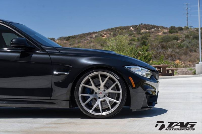 TAG Motorsports BMW F80 M3 Tuning 20 Zoll Vossen VPS 306 Alufelgen AWE KW 2 TAG Motorsports   BMW F80 M3 auf 20 Zoll Vossen VPS 306 Alu's