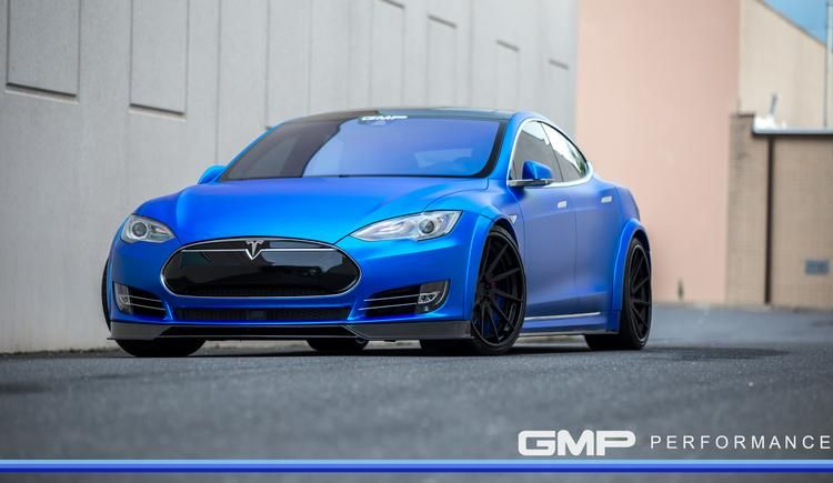Tesla Model S Tuning ADV.1 Revozport R Zentric Mattblau Carbon GMP Performance 4 Extrem schicker Stromer   Tesla Model S by GMP Performance