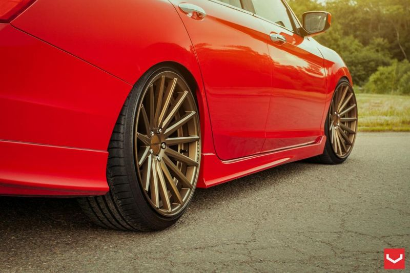 Vossen Wheels VFS-2 Acura TLX Special Red Honda Accord (4)