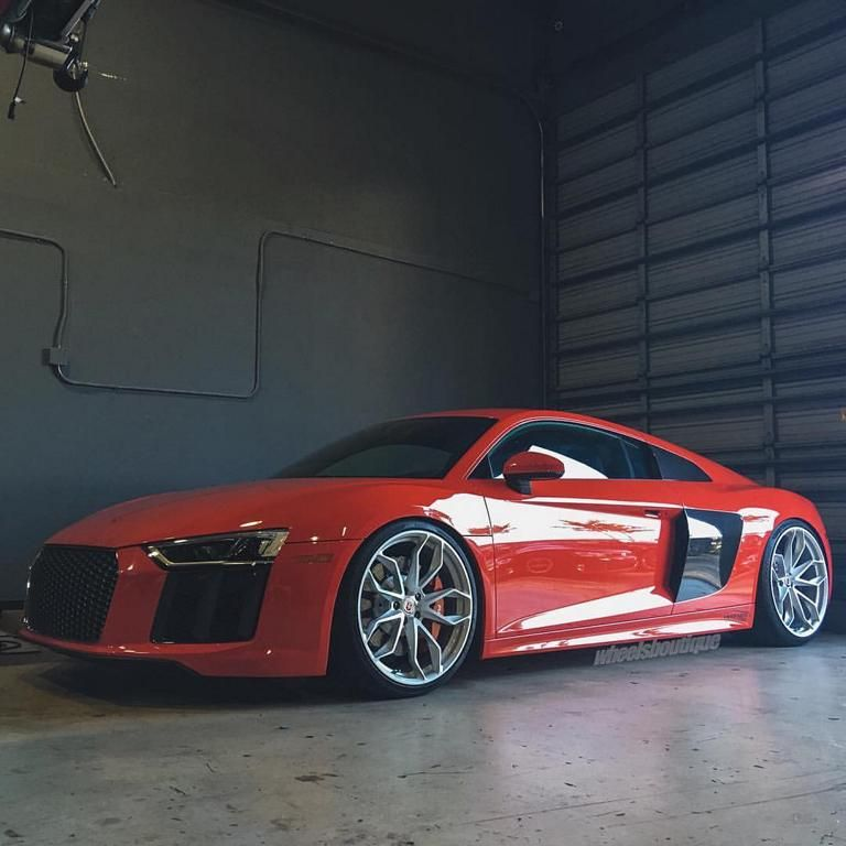 Turbo Kit Audi R8 V10: Wheels Boutique Audi R8 V10 4S Bi-Turbo HRE P201 Tuning (2