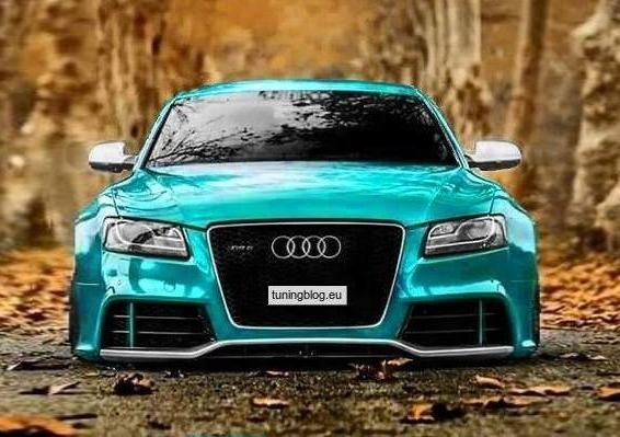 Widebody Audi A5 RS5 Coupe Blue tuningblog.eu  Audi A5 RS5 Rendering Widebody Coupe in Blau by tuningblog.eu