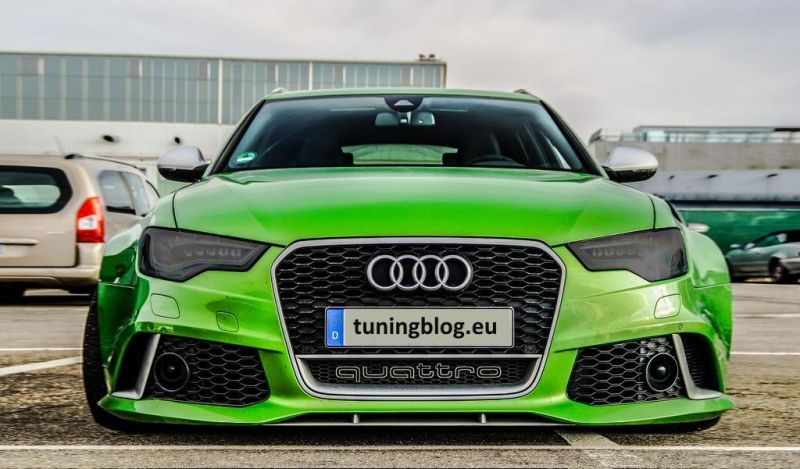 Widebody Audi A6 C7 RS6 Avant Javagreen Tuningblog.eu  Widebody Audi A6 C7 RS6 Avant in Javagreen by tuningblog.eu