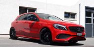 cartech.ch Mercedes A250 AMG 4matic Tuning HRE FF01 Pirelli 8 190x96 Dezent   cartech.ch Mercedes A250 AMG 4matic auf HRE Alu's