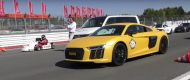 160PS Go Cart vs. Audi R8 V10 Plus G Power M3 190x80 Video: Dragerace   160PS Go Cart vs. Audi R8 V10 Plus & G Power M3