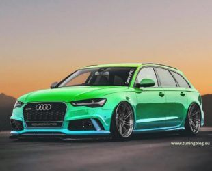 Chameleon Folierung Am Audi A6 Rs6 C7 Avant By Tuningblog