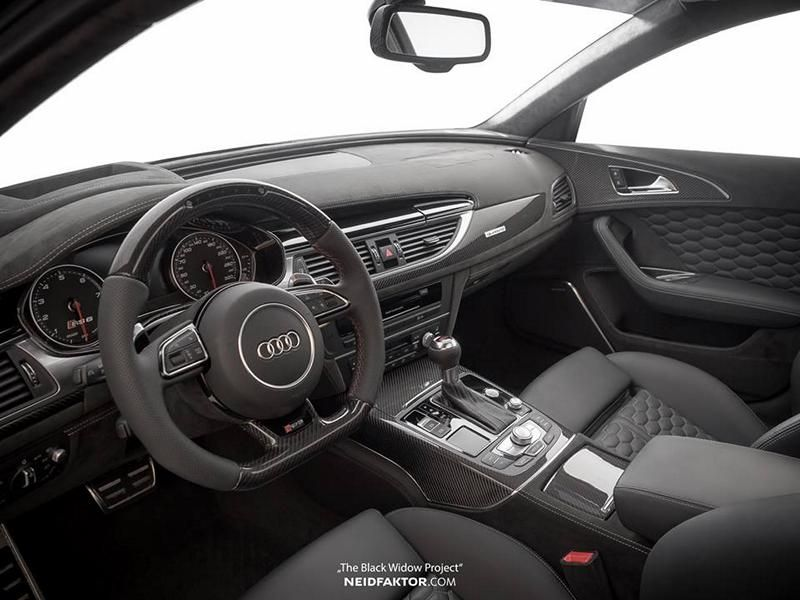 Audi RS6 Tuning Neidfaktor Interieur 1 Mega edel   Audi RS6 The Black Widow Project by Neidfaktor
