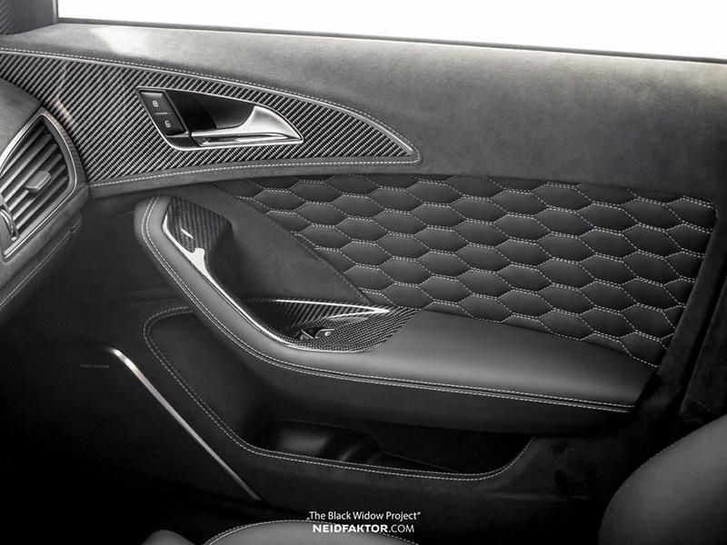 Audi RS6 Tuning Neidfaktor Interieur 2 Mega edel   Audi RS6 The Black Widow Project by Neidfaktor
