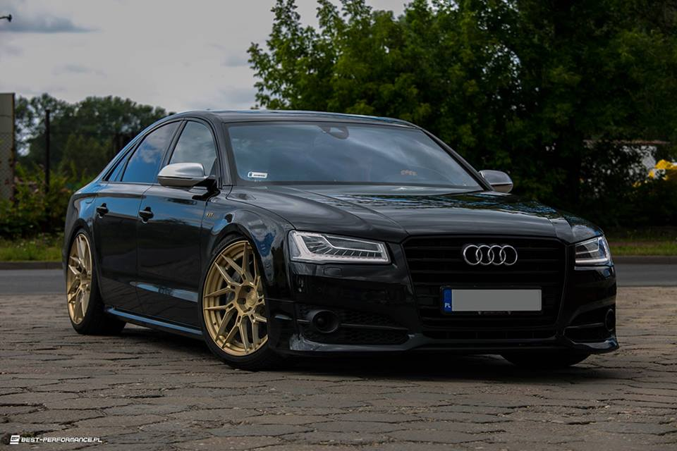 Audi S8 D4 BC Forged HCA217 Best Performance Tuning 4 Video: ADV.1 Wheels Alufelgen an der Audi A8 S8 Limo