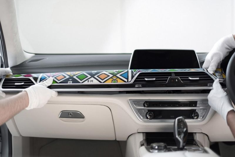 BMW 7er G12 740LI Interieur ARTCar Tuning Esther Mahlangu (10)