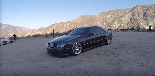 Bagged Mercedes Benz CL55 AMG C217 Tuning Video: Extrem   Bagged Mercedes Benz CL55 AMG im Test