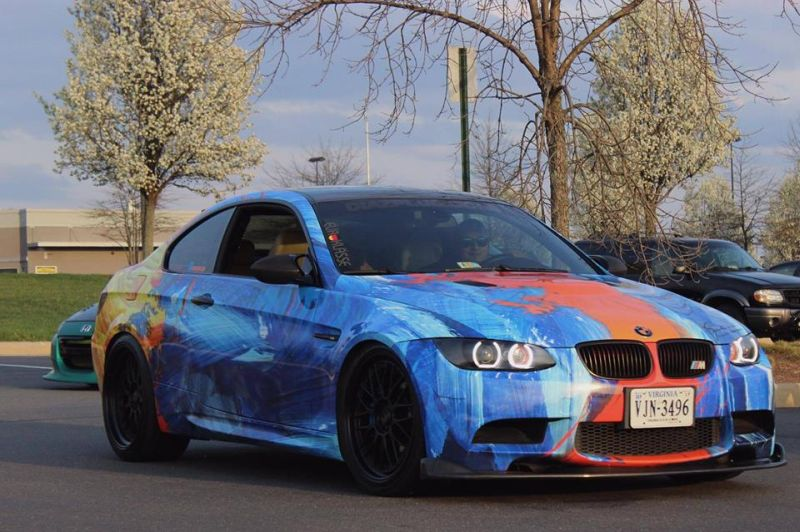 Diaz Plus LLC. BMW E92 M3 Folierung VMR Wheels Tuning (3)
