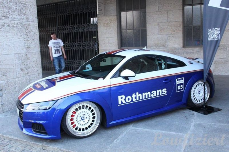 EAH Customs Rothmans Style Audi TT HRE Tuning 13 Neue Optik   EAH Customs Rothmans Style Audi TT auf  Super + MSP Alu's