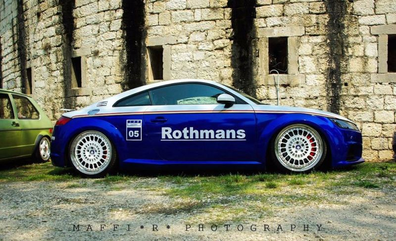 EAH Customs Rothmans Style Audi TT HRE Tuning 19 Neue Optik   EAH Customs Rothmans Style Audi TT auf  Super + MSP Alu's