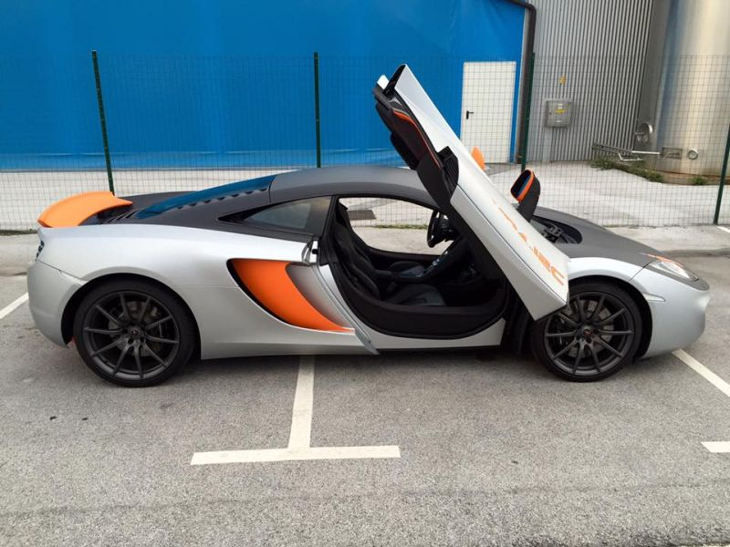 McLaren MP4 12c Wrap Folierung Tuning 3 McLaren MP4 12c   auffällige Folierung by BB Folien Bele Boštjan