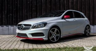 Mercedes A Klasse Kinetic Butterfly Silver Tuning 3 1 310x165 Ford Mustang in Diamond White by SchwabenFolia CarWrapping