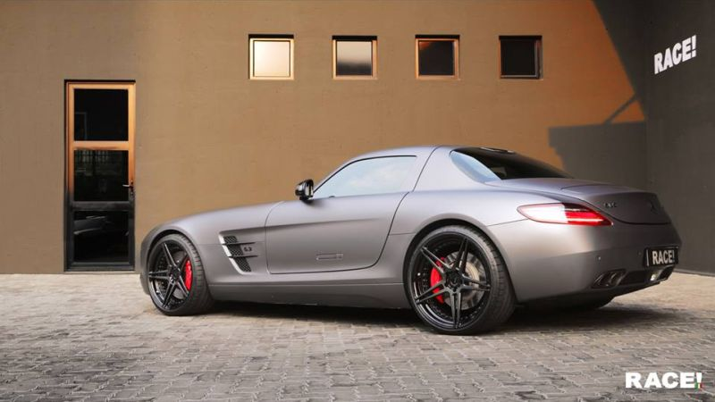 Mercedes Benz SLS AMG ADV.1 Wheels Tuning 1 Mercedes Benz SLS AMG auf ADV.1 Wheels by RACE! South Africa