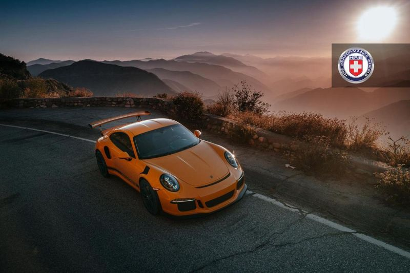 Orange Porsche 991 GT3 RS HRE P104 Wheels 1 HRE Performance Wheels P104 am Porsche 991 GT3 RS in Orange