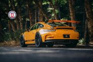 Orange Porsche 991 GT3 RS HRE P104 Wheels 6 190x127 HRE Performance Wheels P104 am Porsche 991 GT3 RS in Orange