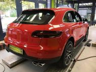 Print Tech Porsche Macan Vollfolierung Racing Red Uni Tuning 4 190x143 Print Tech Porsche Macan mit Vollfolierung in Racing Red Uni