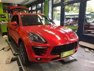 Print Tech Porsche Macan Vollfolierung Racing Red Uni Tuning 9 190x143 Print Tech Porsche Macan mit Vollfolierung in Racing Red Uni