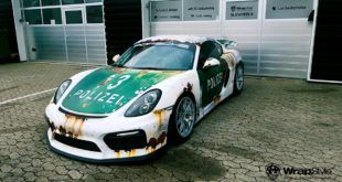 Ratlook Polizei Folierung Tuning Porsche Cayman GT4 981 2 1 310x165 Tesla Model S im Camouflage Design by WrapStyle Denmark