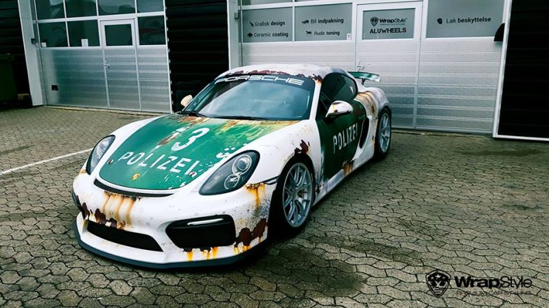 Ratlook-Polizei Folierung Tuning Porsche Cayman GT4  981 (2)