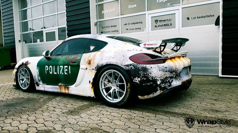 Ratlook-Polizei Folierung Tuning Porsche Cayman GT4  981 (4)